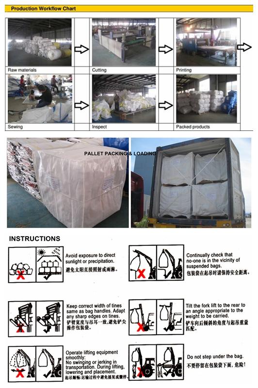 Biaxial Oriented Polypropylene BOPP laminated bags / Tonne Bag