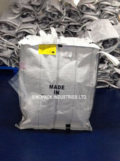 China White Conductive Big Bags , Fibc Big Bags Preventing Combustion And Explosion supplier