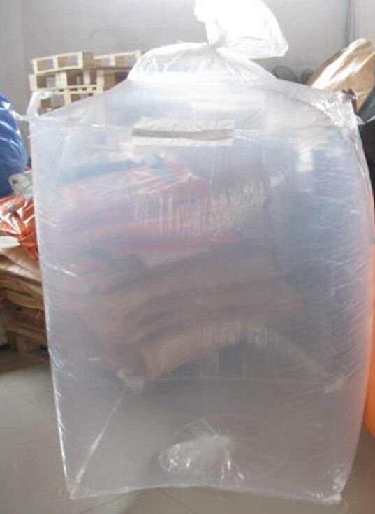 China Bulk Form Fit Pe Bag Liner Attached To Outer Polypropylene Jumbo Bags Supplier