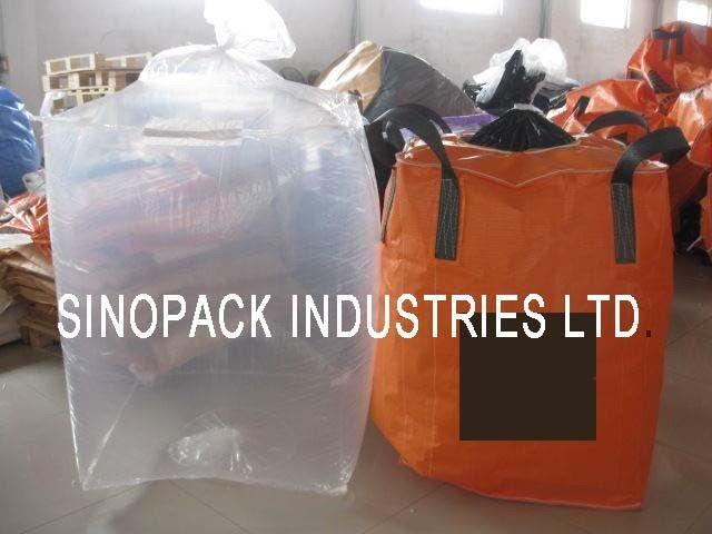 Large Clear Form Fit Pe Bulk Fibc Bag Liner For Carbons Fine Powder